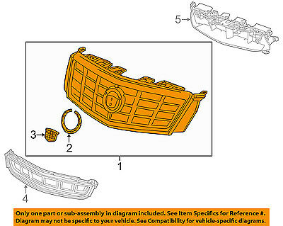Cadillac GM OEM 16-17 XTS Front Bumper Grille-Upper Grille 23337017