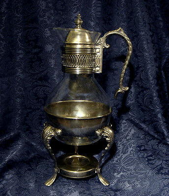 Vintage Leonard Silverplated Carafe Coffee Tea Warmer