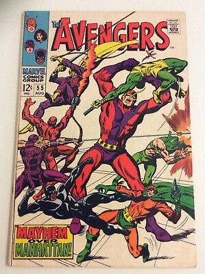 The Avengers #55 (1968, Marvel) 1st App Ultron! Iron Man FREE PRIORITY SHIPPING