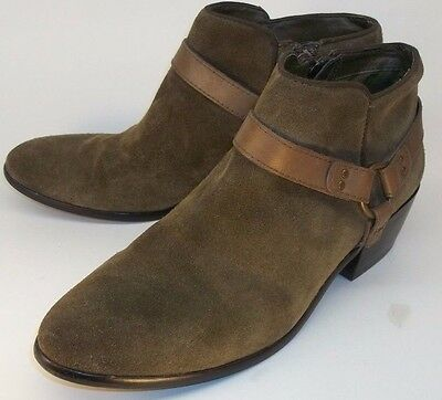 2c9ae2356 Sam Edelman PHOENIX Wo s US 10M Green Suede Harness Ring Zip-Up Low Ankle  Boots