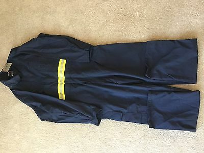 New Mens Coverall Cotton Drill 3M Scotchlite Tapes Safety Fluro Mechanic 99L
