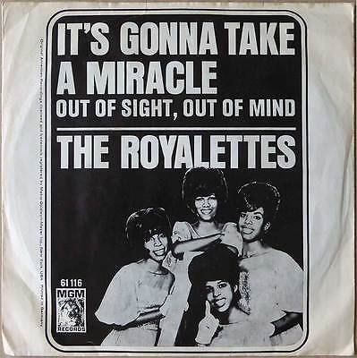 "7"" The Royalettes - It's Gonna Take A Miracle - Deutschland 1965 - Soul - RARE"