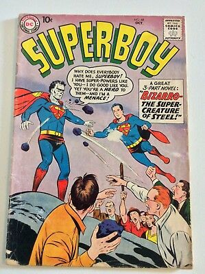 Superboy #68 1st appearance of Bizarro-Comic Book-1958 DC FREE PRIORITY SHIPPING