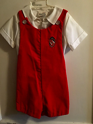 "Boys Toddler 2 Pc. Red Velvet Outfit 3T, ""nwot"" Macy's ""baby Togs White Shirt"