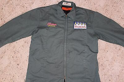 Large Hamm's  Mechanic's Work Jacket - Vintage/Retro Beer