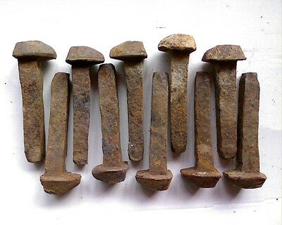 10 railway sleeper dog spikes nail Locomotive steam train carpenter blacksmith