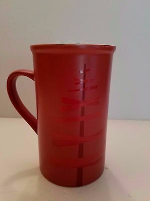 Large 2012 Starbucks Stylized Red Christmas Tree Coffee Latte Mug 20 oz.