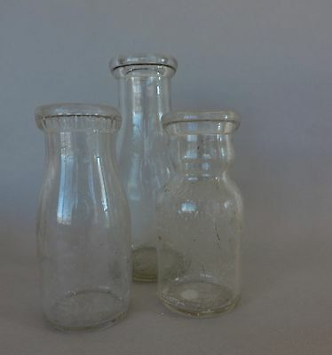 Old milk bottles lot of 3