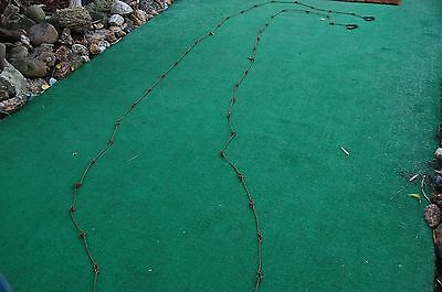 ANTIQUE 32 FOOT  FORD land SURVEYOR CHAIN marked FORD-ESTATE FRESH-NR-FREE SHIP