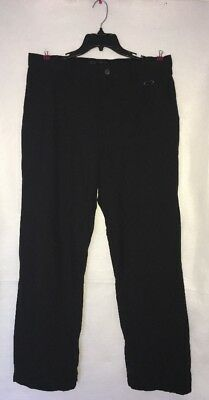 Oakley Men's Black Nylon Pants Size 36W 34L - EUC