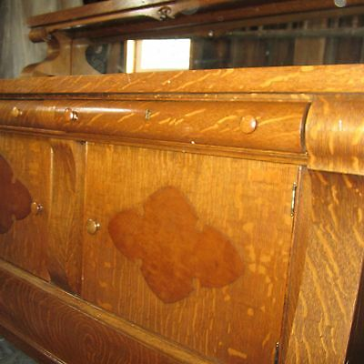 Tiger Oak Antique Sideboard -Buffet