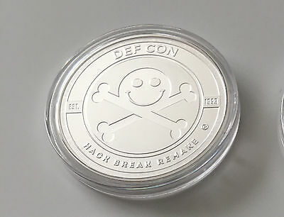 DEF CON 25 1 troy oz. Sterling Silver Pirate coin