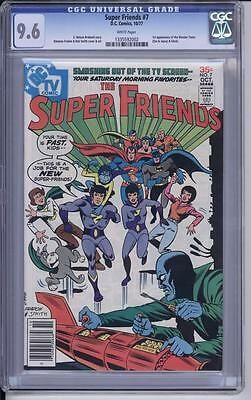 Super Friends #7, CGC 9.6 1st Appearance of the Wonder Twins and Gleek.