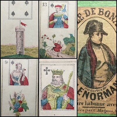 XIX Century Cartomancy Lenormand Fortune Telling Colour Playing Cards Bonaparte