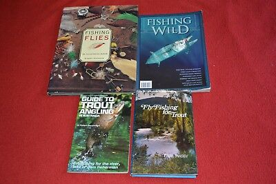 3 Books Fishing Flies Illustrated Album Trout Angling In Australia Fishing Wild