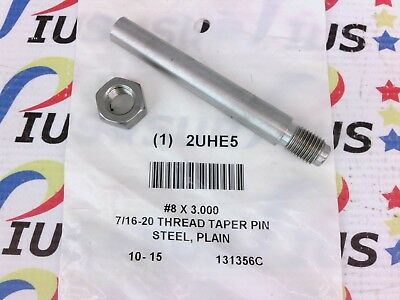 NSOP Stanlok TTP0800300PL #8 x 3 In. Threaded Taper Pin Carbon Steel Plain 1 pc