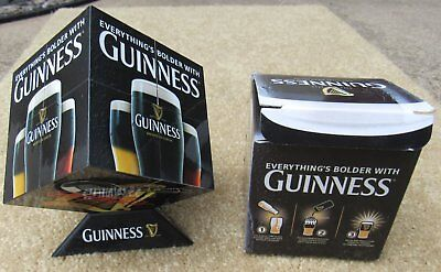 Guinness Beer Drink Combo Cube In Box With Stand Smthwick Harp Bar Pub