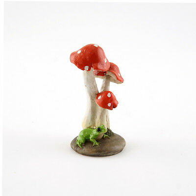 My Fairy Gardens Mini - Mini Frog with Red Mushrooms - Supplies Accessories