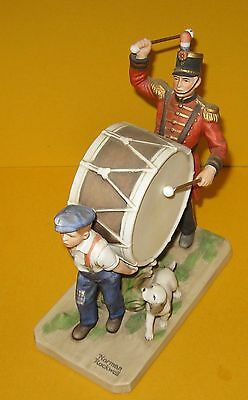 Vintage Norman Rockwell Museum 1982 The Drummer's Friend Figurine