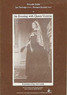 Theatre Programme Prunella Scales 1983 An Evening With Queen Victoria