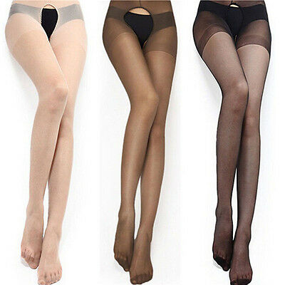 Fashion Women Sexy Open Crotch Crotchless Sheer Pantyhose Socks Stockings Tights