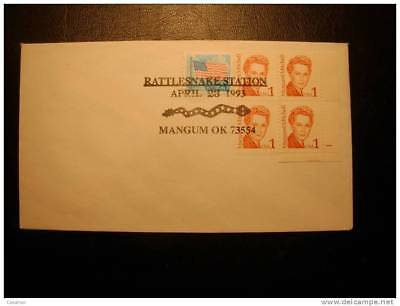 USA Rattlesnake Station Magnum Oklahoma 1993 Special Cancel Cover