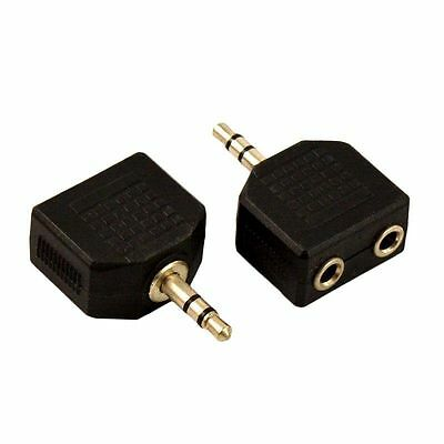 3.5mm Jack Double Earphone Headphone Y Splitter Cable 1 to 2 Audio Adapter