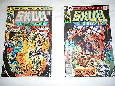 SKULL THE SLAYER  #5 #7  1975 Vintage Marvel Comics Collectors