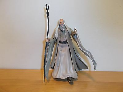 Saruman the White Wizard Action Figure Lord of the Rings Fellowship 2001 Toy Biz
