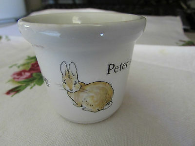 Wedgwood Beatrix Potter Peter Rabbit Egg Cup Made in England Vintage