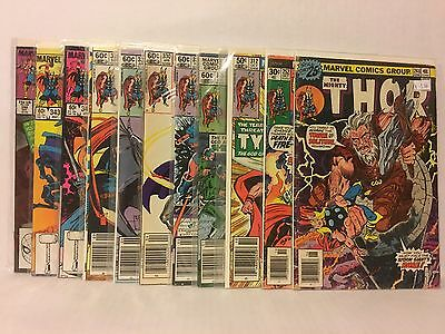 The Mighty Thor 11 Comic Lot Marvel Ulik Tyr Jane Foster Seth