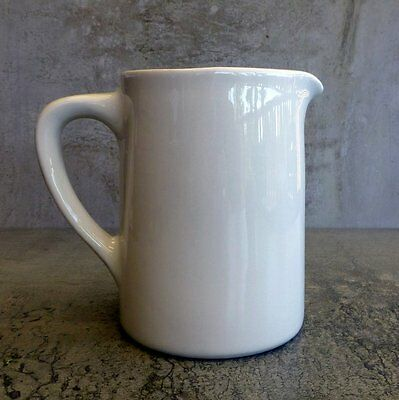 Retro Bristile Hotel China Jug 600mls 20oz 1970s Super Vitrified Australia 13cm