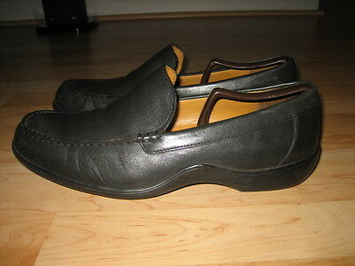 Cole Haan Nike Air Black Leather Casual Men's Pull on Shoes Size  9 M EUC