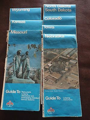 Vintage Lot Of 7 Standard Oil Amoco Road Maps 1978 Midwest