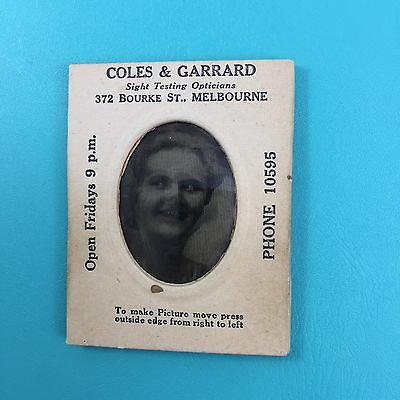 Coles & Garrard Optician Melbourne Flicker Wiggle Magic Motion Picture Tilt Card