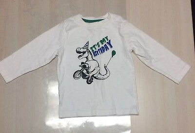 Baby Toddler Long Sleeve Gymboree 18-24 Month Dinosaur Birthday Shirt Top Boy