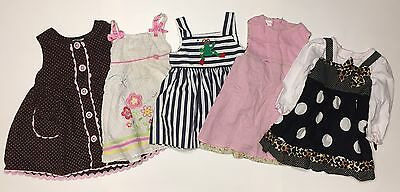 Five Baby Toddler Girls Dresses Size 18-24 Months 2T Sleeveless Lot