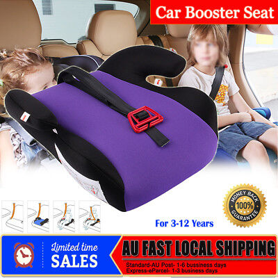 AU Safe Sturdy Baby Child Kid Children Car Booster Seat Purple Fit 3 To 12 Years