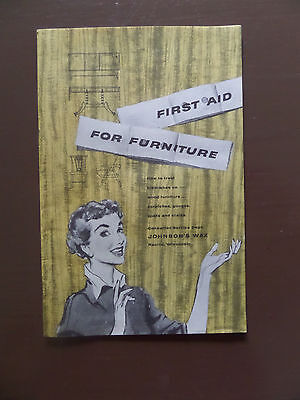 1950's Johnson Wax First Aid For Furniture Booklet