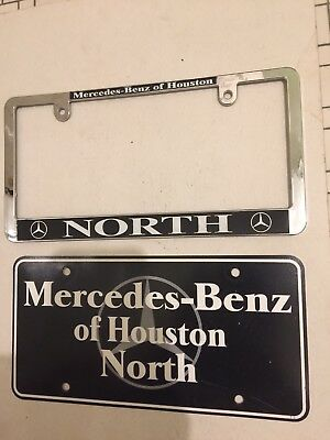 Mercedes Benz Of Houston North Vanity License Plate & Frame Texas TX