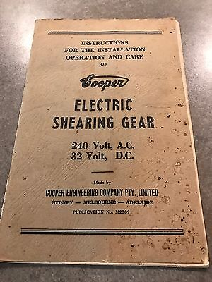 Cooper Electric Shearing Gear Book