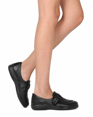 New Women Vista-03 Leatherette Belted Elevated Heel Working Loafer