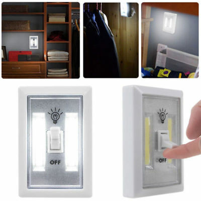 5 Pack COB LED Wall Switch Wireless Closet Cordless Night Light Battery Powered