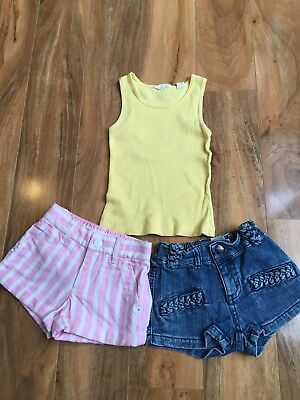 Girls Country Road Top & Fred Bare Shorts Size 1