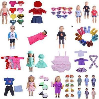 Handmade Doll T-shirt Pants Shoes Dress Swimsuit for 18inch Doll Toy Clothes