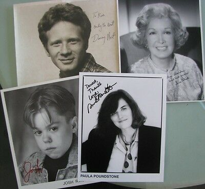 Lot of 4 Original Autographed Celebrity Photos including Donny Most +