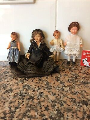 Small Antique Vintage Doll  Family Celluloid