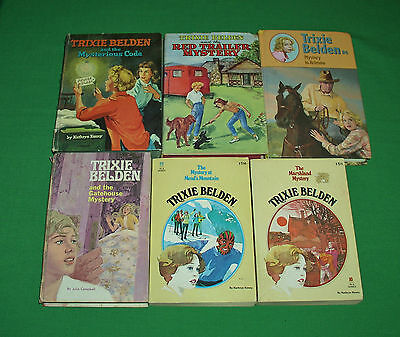Lot of 6 Vintage Trixie Belden Children's Chapter Mystery Story Books