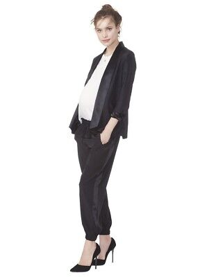 Hatch Maternity Collection The Tuxedo Jogger Black Pants Size 1 Small