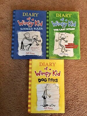 Diary of a Wimpy Kid Book SERIES (Lot Of Three) Hardcover Books 2 3 4